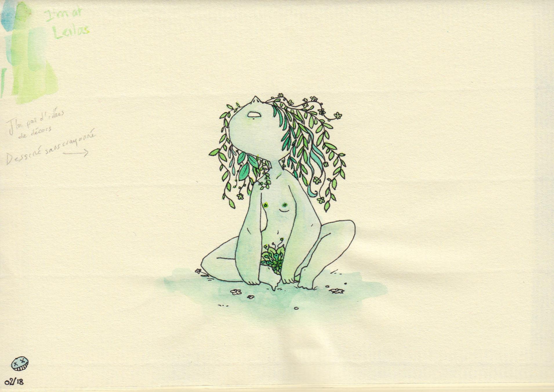 fille vegetale