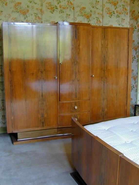 Chambre palissandre art deco - Deco chambre annee 60 ...