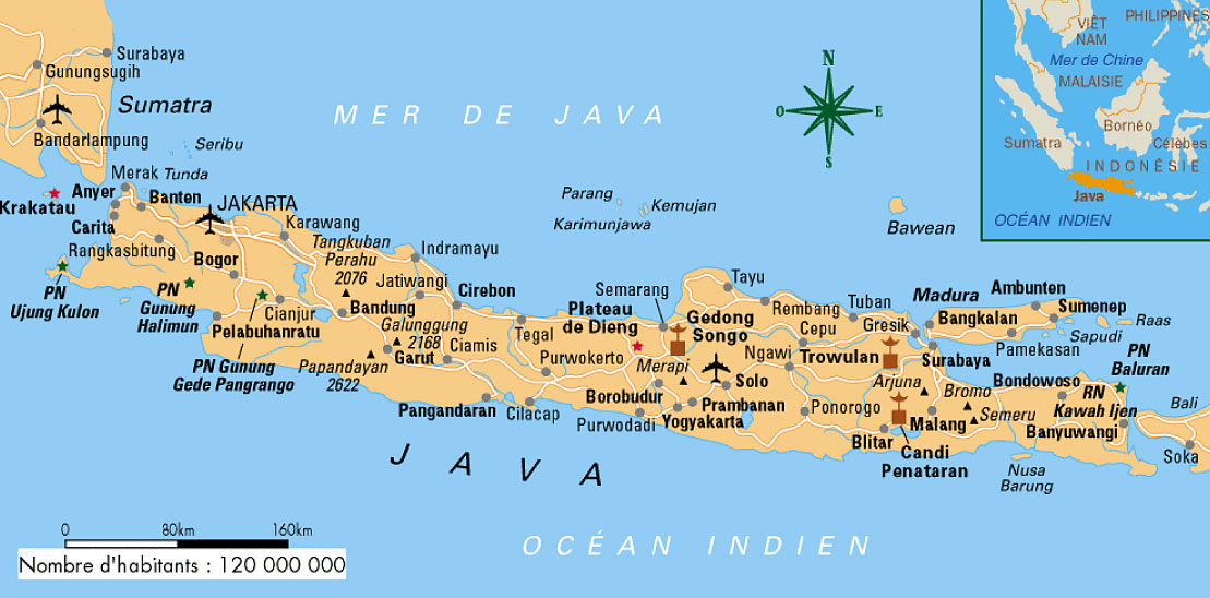Carte java indonesie carte indonesia map maps