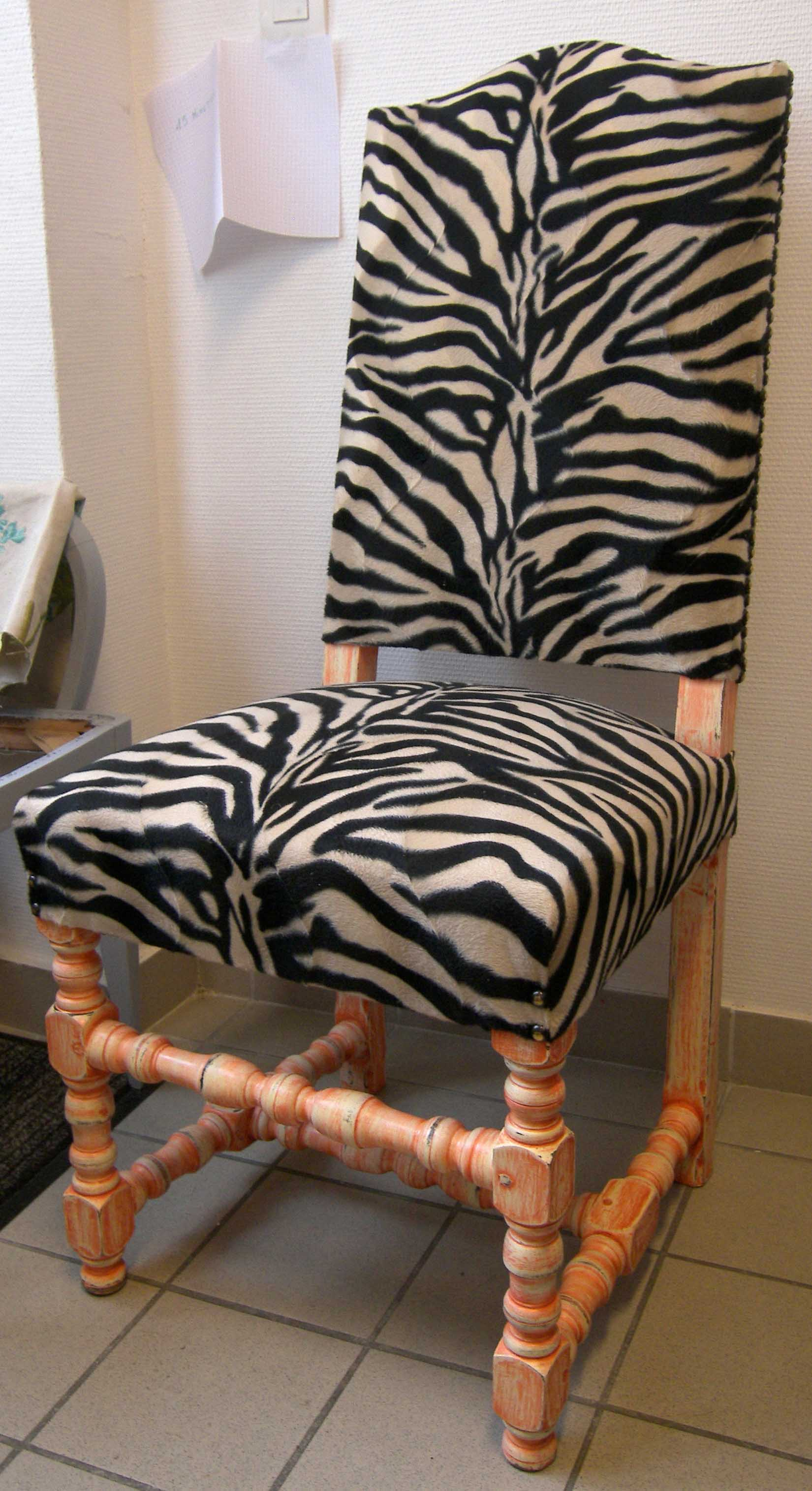 Fauteuil Baroque Zebre Fashion Designs