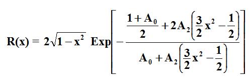 Equation de Tuck à deux paramètres