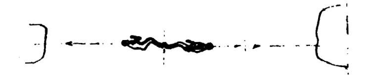Schéma de Tsiolkovski : Deux cosmonautes se repoussent à l'aide de leurs jambes.