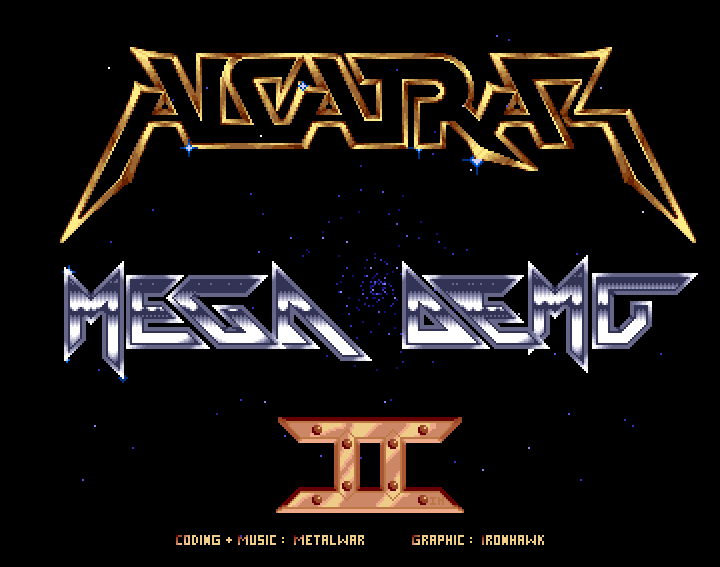 ALCATRAZ - Mega demo II - Nice picture and sinus scroll