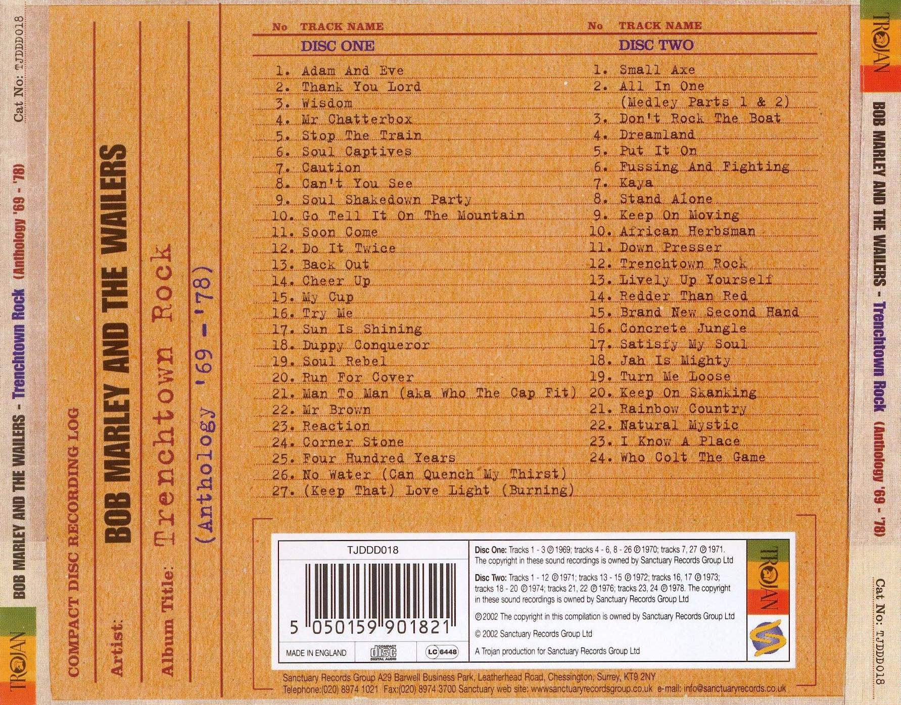 Bob Marley The Wailers Live