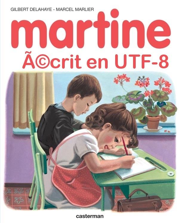 Martine écrit en utf-8